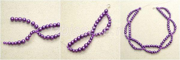 Плетение ожерелья из жемчуга