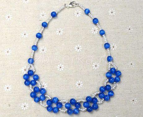 Ожерелье из бусин и бисера мастер-класс