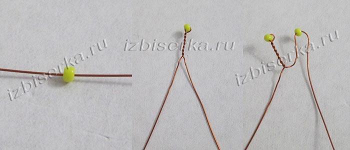 Плетение лепескта для гиацинта