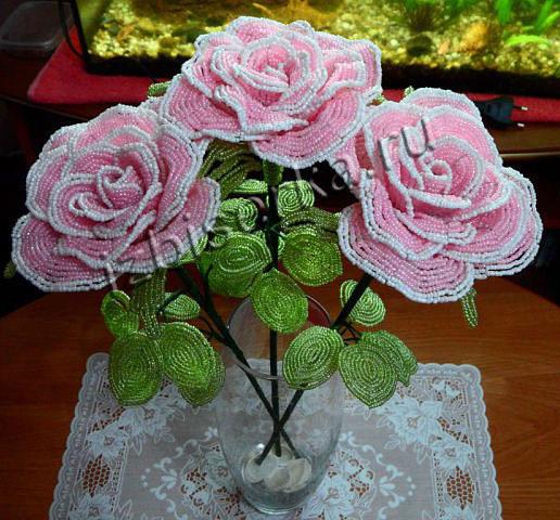 Для плетения Розы из бисера