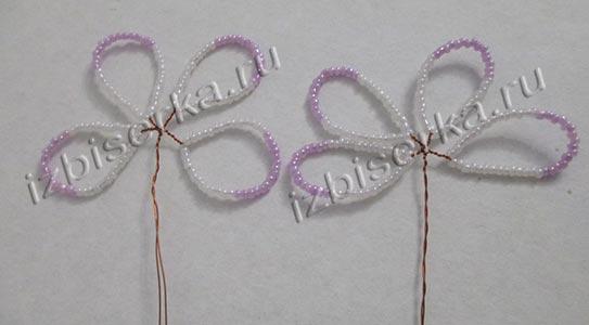 Плетение лепестков для хризантемы