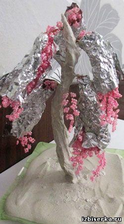 Дерево сакура из бисера, Деревья из бисера