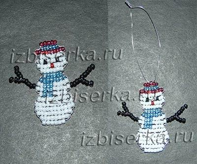 Снеговик из бисера