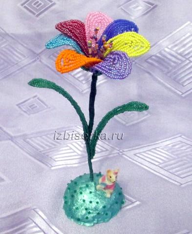 Фото цветика семицветика из бисера