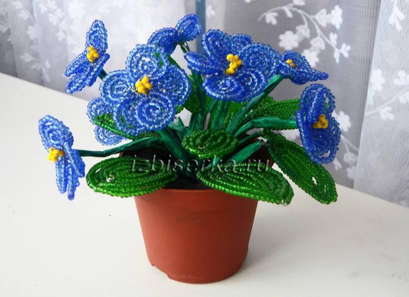 бисер цветы фталка