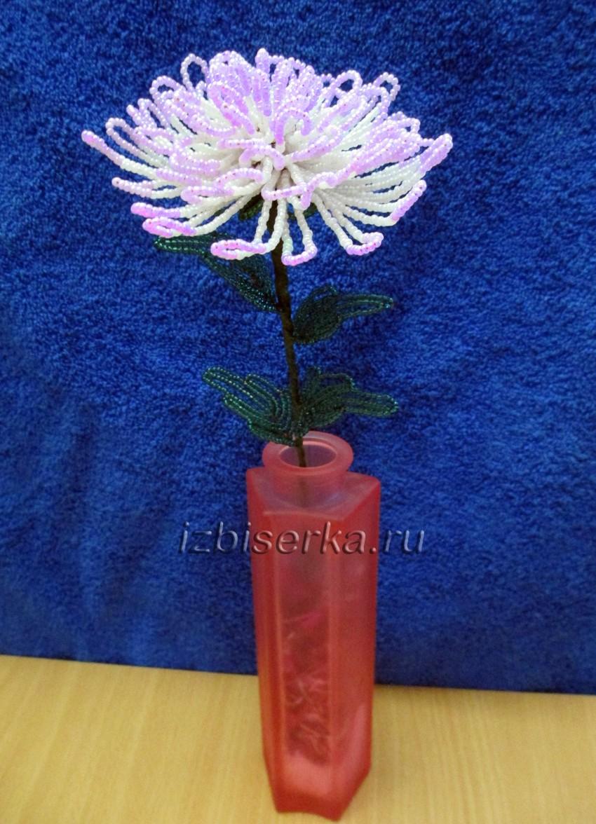Фото хризантемы из бисера