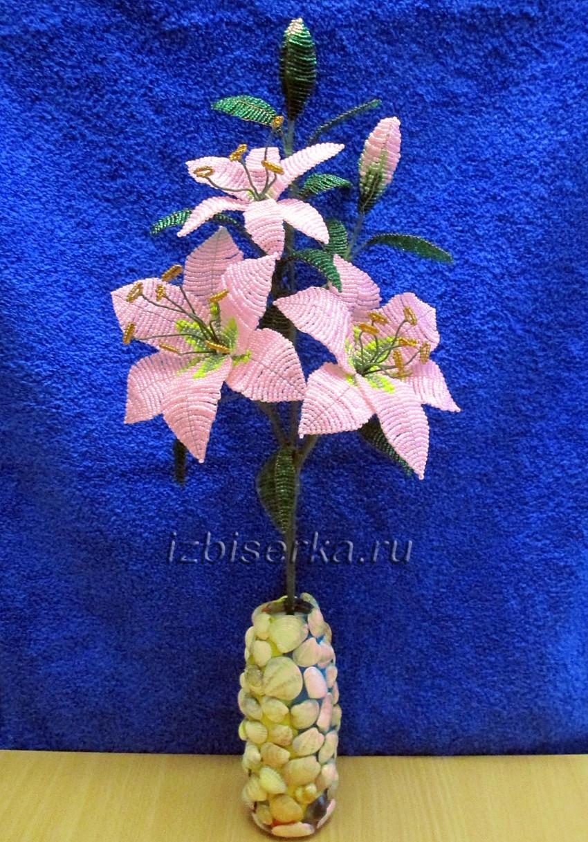 Фото лилии из бисера