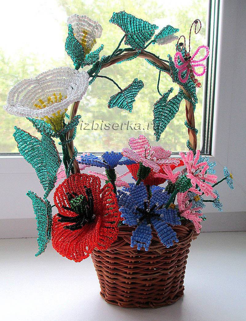 Фото полевых цветов из бисера