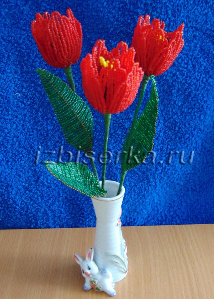 Фото тюльпанов из бисера