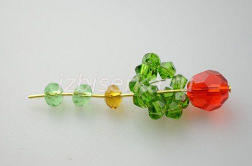 Последовательность плетения серёжек яблочек