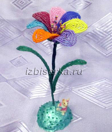 Цветик-семицветик из бисера мастер-класс