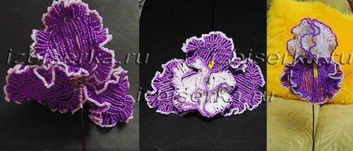 Ирис из бисера Цветы из бисера 13