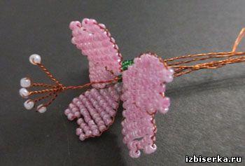 Смолёвка из бисера, Полевые цветы из бисера