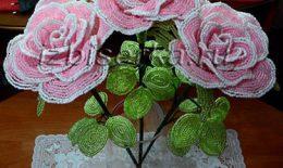 Роза из бисера — пошаговый мастер-класс