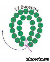 схема плетения дугами