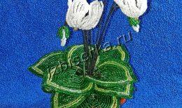Цикламен из бисера – подробный мастер-класс плетения с фото