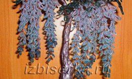 Глициния из бисера — подробный мастер-класс плетения