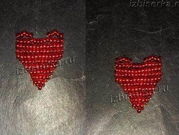 Сердце из бисера — мастер-класс с подробной схемой плетения для начинающих